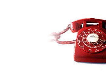 Zdjęcie czerwonego telefonu